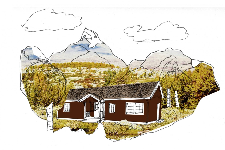 Fjällstugan målas gärna i dämpade färger. Hus i fjällandskap kan man gärna måla i naturbaserade färger, med en svart underton.